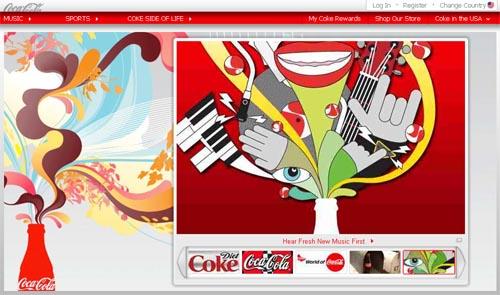 Coca-Cola brand website