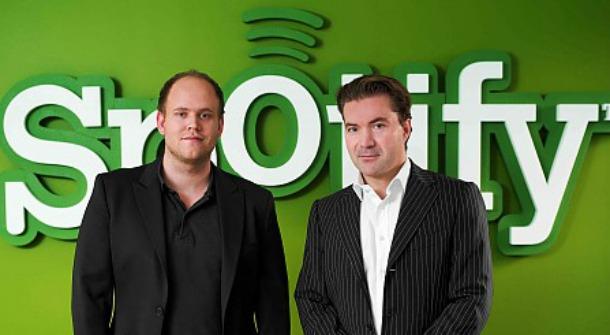 Daniel Ek e Martin Lorentzon - Spotify