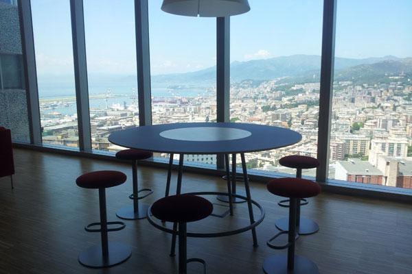 Il panorama da uno degli open space all'interno di Ericsson