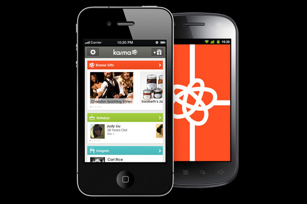 karma app di social gift