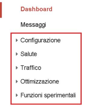 guida-webmaster tool-menu