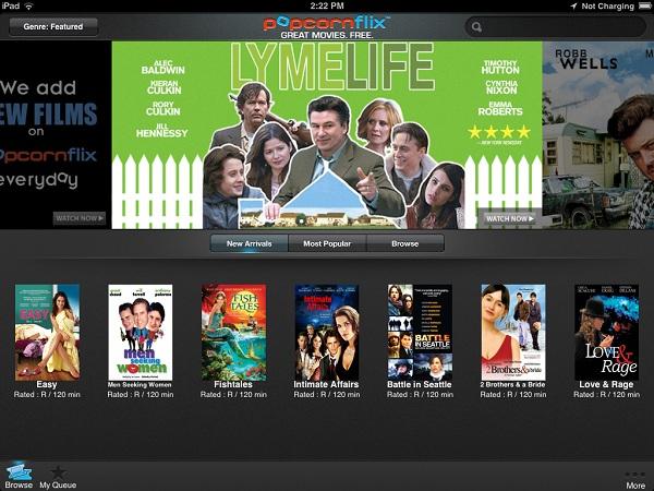 Popcornflix_iPad_Homepage