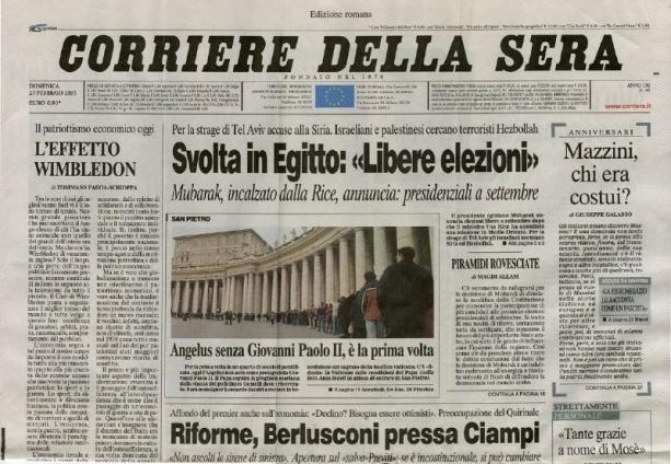 Rcs punta sul digitale i mercati premiano il nuovo piano for Corriere della sera arredamento