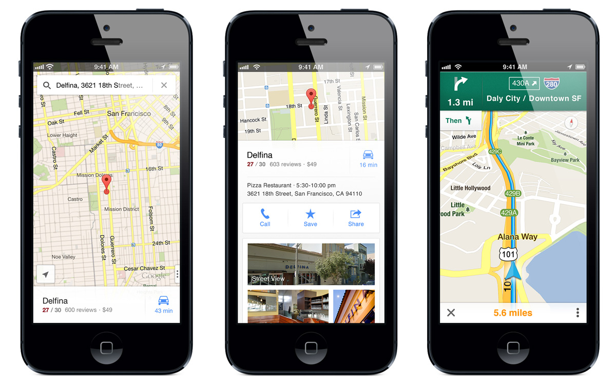 Google Maps su iPhone