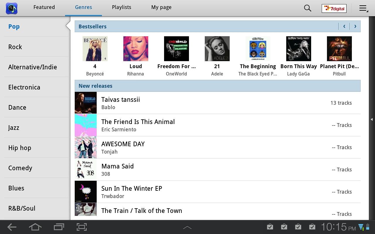 Music Hub Pop