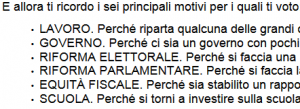 lettera Bersani