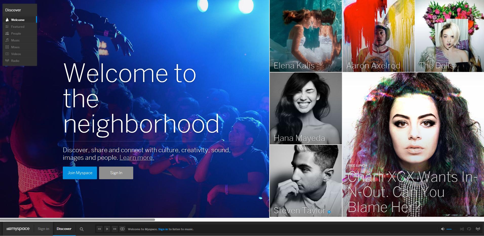 Il rilancio di Myspace: nuova app, Social Radio e immagini GIF