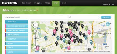 GROUPON MAPS, IL GPS DEI DEAL IN CITTÁ