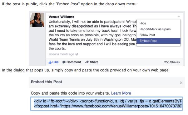 """Facebook lancia gli """"embedded post"""" per condividere su ..."""