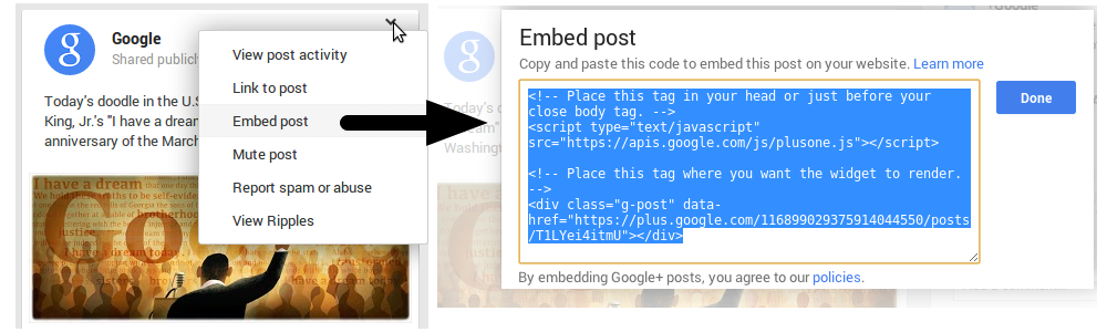 how to delete a post on google plus