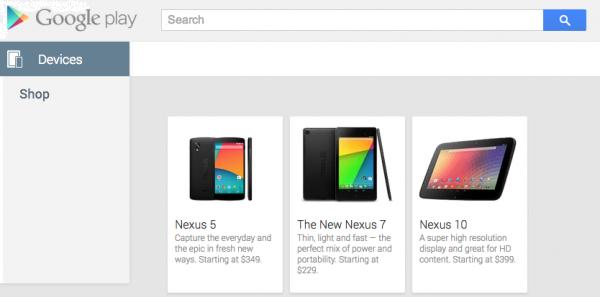 Nexus 5 indiscrezioni dal Play Store