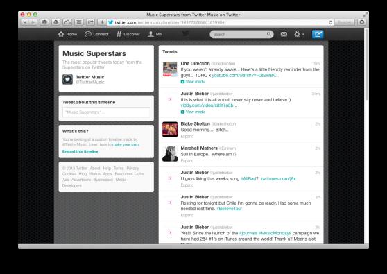 Twitter arrivo le Timeline personalizzate