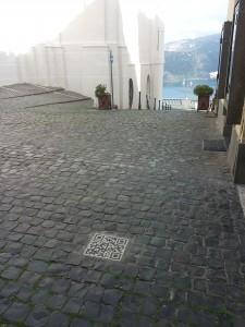 QR code vista lago a Castel Gandolfo