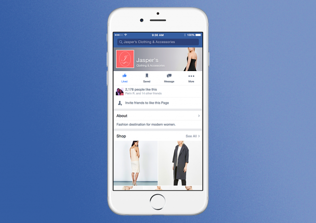 Facebook shop mockup