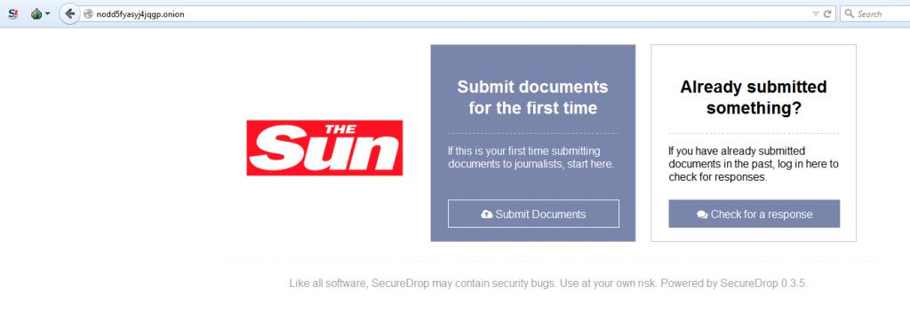 the SUN secure drop