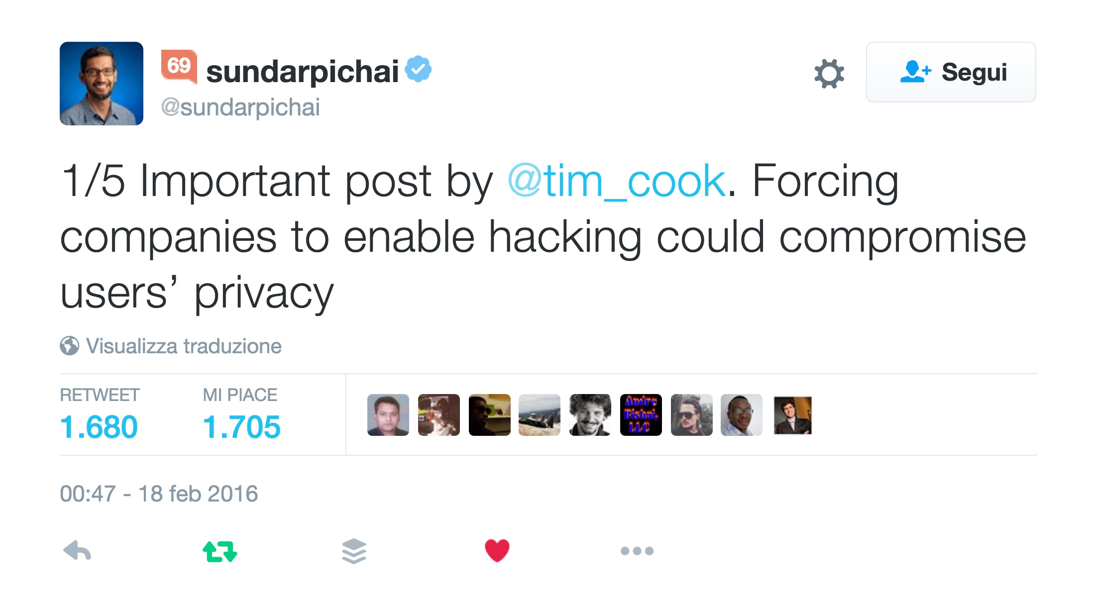 sundarpichai_su_Twitter___1_5_Important_post_by__tim_cook__Forcing_companies_to_enable_hacking_could_compromise_users'_privacy_