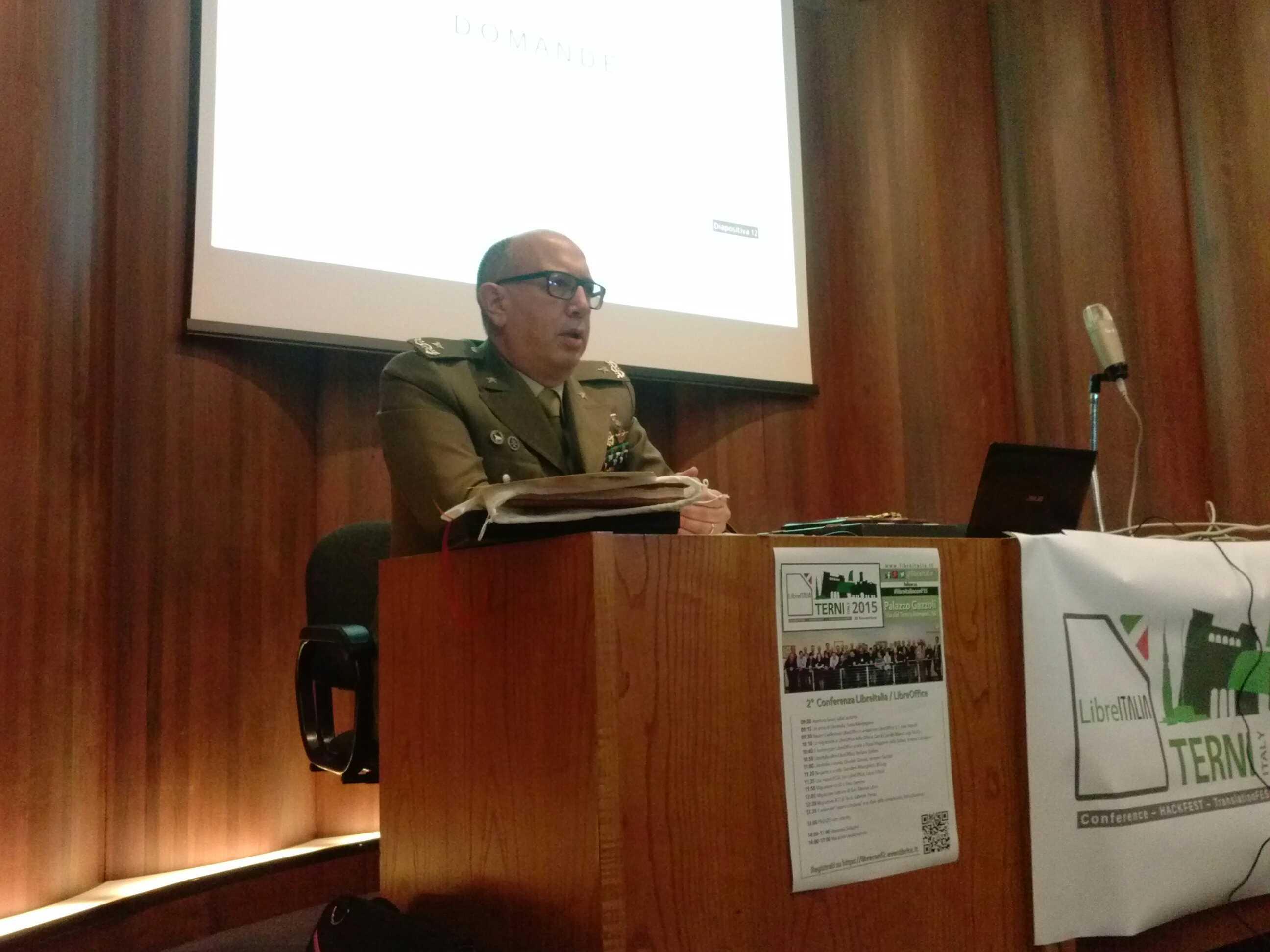 Generale di Brigata Camillo Sileo, coordinatore progetto LibreDifesa