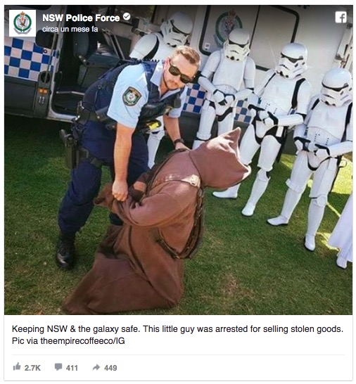 New South wales police star wars epic fail