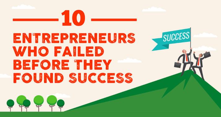 10 imprenditori di successo che hanno fallito almeno una volta #infografica