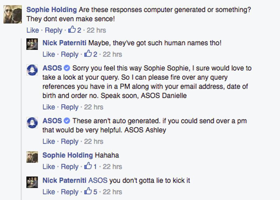 asos facebook bot