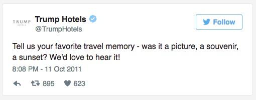 trump hotels tweet