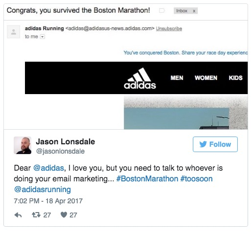 adidas maratona di boston