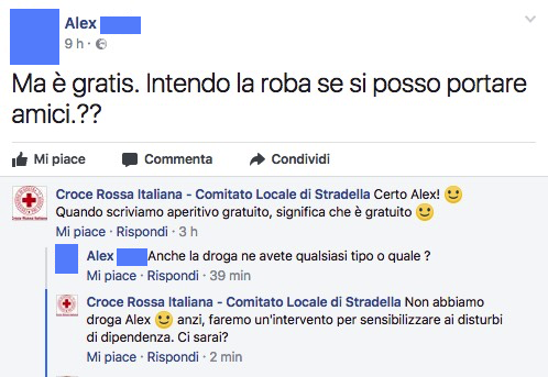 aperitivo droga croce rossa stradella facebook