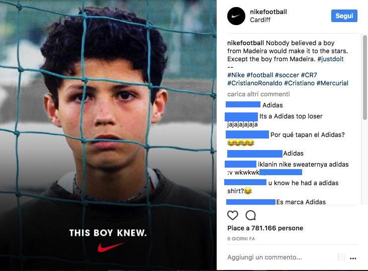 cristiano ronaldo nike adidas foto