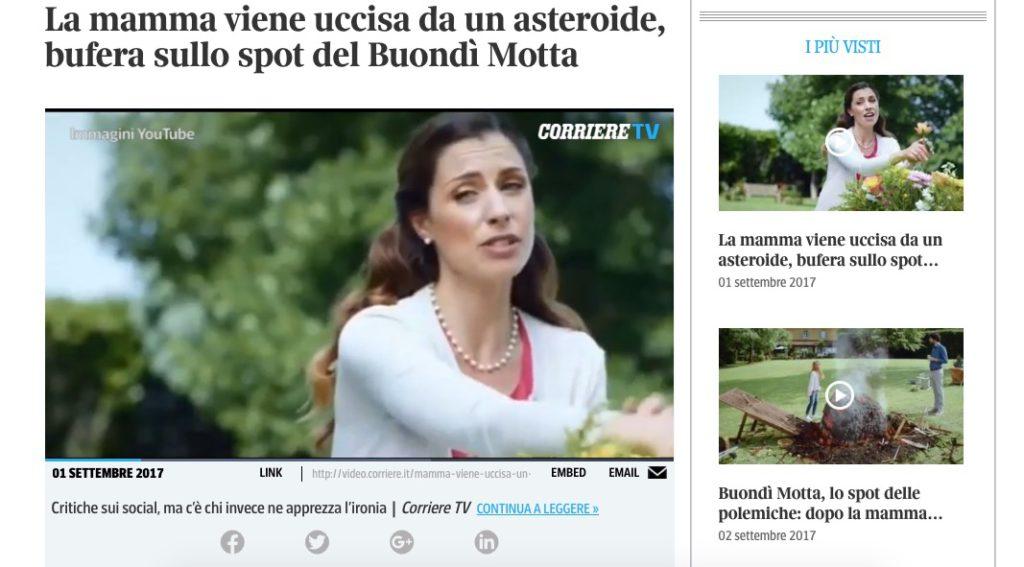 buondì pubblicità asteroide