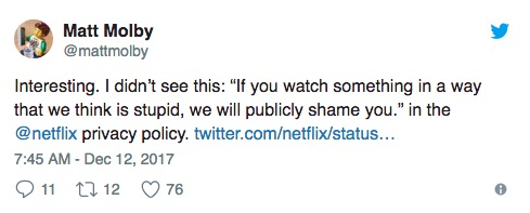 netflix privacy twitter