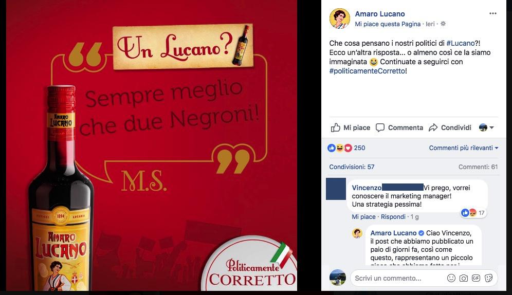 amaro lucano salvini facebook