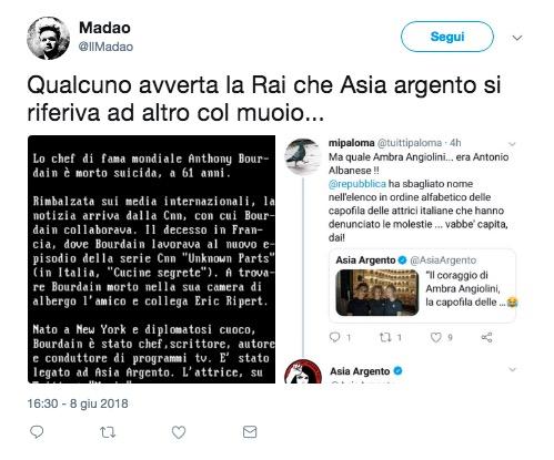 Anthony Bourdain asia argento tweet