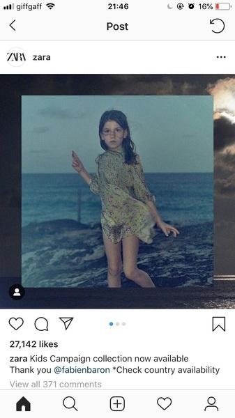 Zara foto bambina